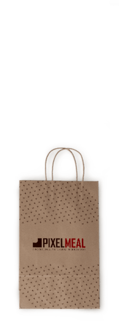 Paper bag with company logo